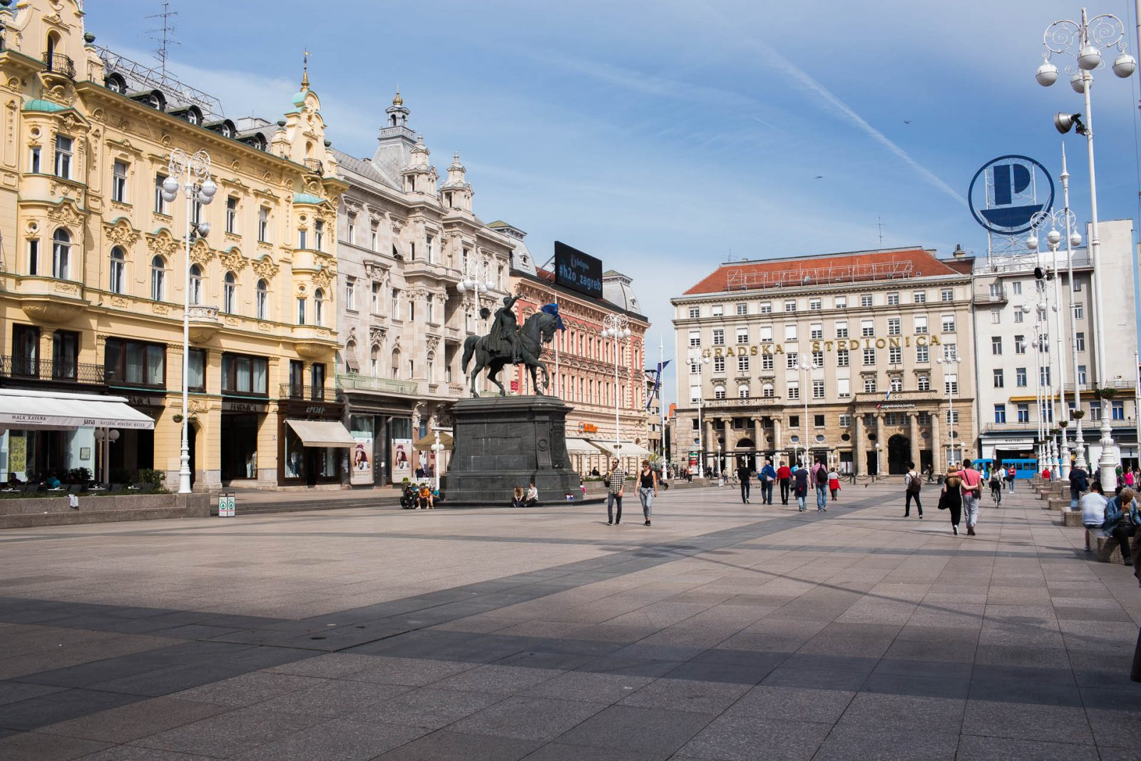Just Zagreb, main square, ban Jelacic