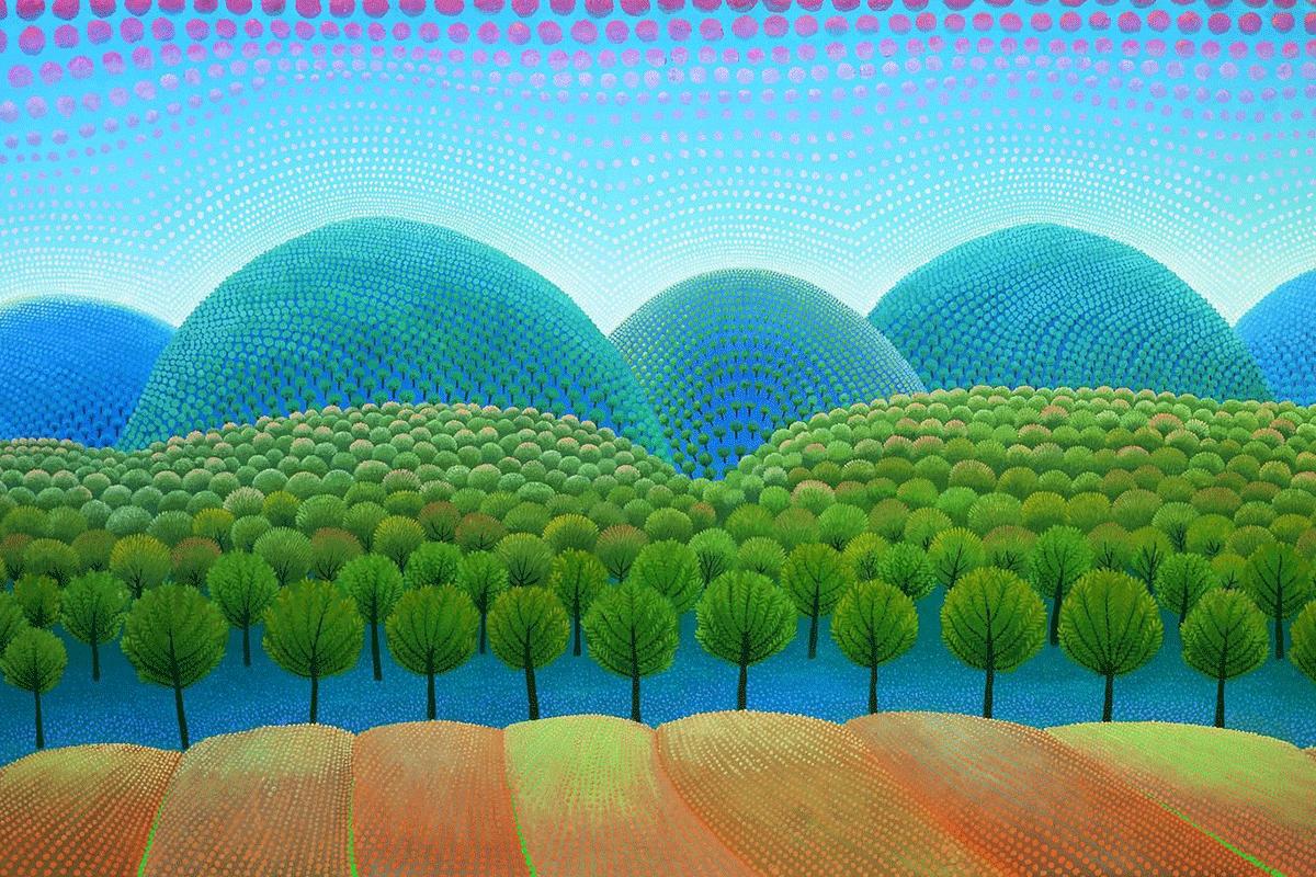 Forest exhibition in art pavilion